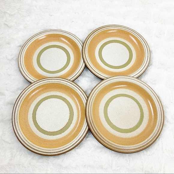Vintage Other - Hall Artisan by Denby 4 stoneware bread plates